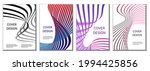 a set of 4 abstract covers.... | Shutterstock .eps vector #1994425856