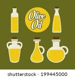 olives design over green... | Shutterstock .eps vector #199445000