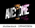 cool bear doll standing against ...   Shutterstock .eps vector #1994455856