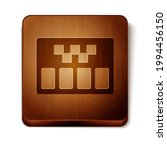 Brown Taximeter Device Icon...