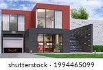 exterior of modern living house.... | Shutterstock . vector #1994465099