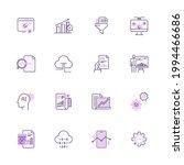simple set of data analysis... | Shutterstock .eps vector #1994466686