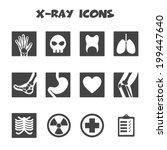 X Ray Icons  Mono Vector Symbols