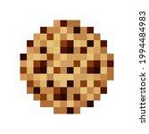 chocolate chip cookies pixel...   Shutterstock .eps vector #1994484983