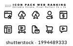 icon set of web ranking line...   Shutterstock .eps vector #1994489333