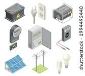 electric power objects with...   Shutterstock .eps vector #1994493440