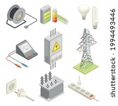 electric power objects with...   Shutterstock .eps vector #1994493446