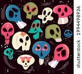vector dia de los muertos. a...   Shutterstock .eps vector #1994498936
