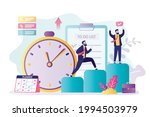 businessman has successfully...   Shutterstock .eps vector #1994503979