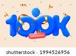 100k followers thank you 3d... | Shutterstock .eps vector #1994526956