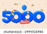 5000 followers thank you 3d...   Shutterstock .eps vector #1994526986