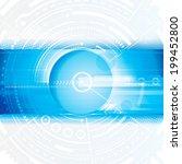 abstract technology blue... | Shutterstock . vector #199452800