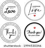 sticker made with love handmade ...   Shutterstock .eps vector #1994530346