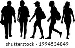 silhouette group of people... | Shutterstock .eps vector #1994534849