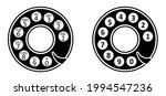 old alphanumeric phone numbers. ... | Shutterstock .eps vector #1994547236