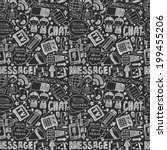 seamless doodle communication... | Shutterstock .eps vector #199455206