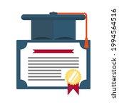 vector of a graduation cap on... | Shutterstock .eps vector #1994564516