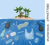 polluted ocean and plastic... | Shutterstock .eps vector #1994577080