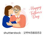 happy fathers day greeting.... | Shutterstock .eps vector #1994580053