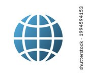 global sign. web browser icon....