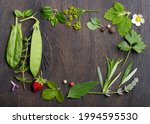 fresh spices and herbs on...   Shutterstock . vector #1994595530