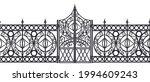 iron vector gate  wrought metal ... | Shutterstock .eps vector #1994609243