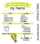 baby birth print. baby data... | Shutterstock .eps vector #1994617880