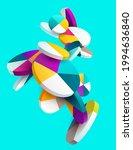 3d multicolored decorative... | Shutterstock .eps vector #1994636840