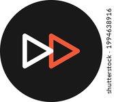 forward video icon vector image....