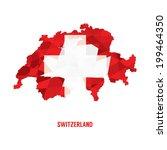 map of switzerland vector...   Shutterstock .eps vector #199464350