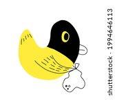 duck thief cartoon concept for...