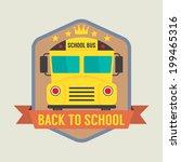 back to school badge vector... | Shutterstock .eps vector #199465316