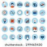 large set of finance and... | Shutterstock . vector #199465430