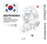 south korea geometric concept... | Shutterstock .eps vector #199465739