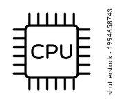 cpu computer hardware part... | Shutterstock .eps vector #1994658743