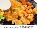 Fried Seafood Platter With Fis...