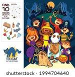 children in halloween costumes. ...   Shutterstock .eps vector #1994704640