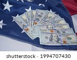 bills of one hundred us dollars ... | Shutterstock . vector #1994707430