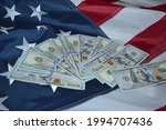 bills of one hundred us dollars ... | Shutterstock . vector #1994707436