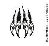 monster claw marks and...   Shutterstock .eps vector #1994708363