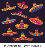 cartoon mexican sombrero ...   Shutterstock .eps vector #1994708366