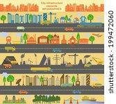 set of modern city elements for ...   Shutterstock .eps vector #199472060