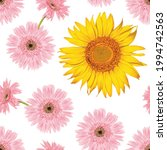 seamless pattern floral with... | Shutterstock .eps vector #1994742563
