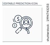detecting fraud line icon....   Shutterstock .eps vector #1994743253