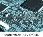 detail of an electronic printed ... | Shutterstock . vector #199474736