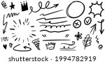 hand drawn set of curly swishes ... | Shutterstock .eps vector #1994782919