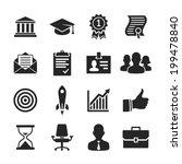business career icons. raster... | Shutterstock . vector #199478840