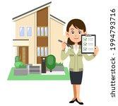 a woman in a construction shop... | Shutterstock .eps vector #1994793716