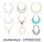 necklace  beads boho style...   Shutterstock .eps vector #1994837240