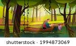 fishing man in boat catching...   Shutterstock .eps vector #1994873069